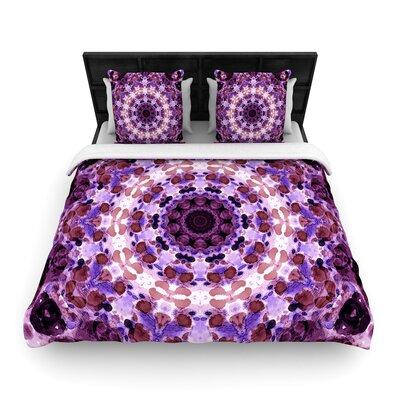 Iris Lehnhardt Mandala III Woven Duvet Cover Size: Twin