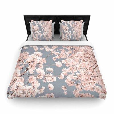 Iris Lehnhardt Rosy Sky Floral Woven Duvet Cover Size: Twin