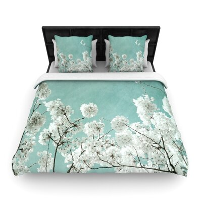 Iris Lehnhardt Flowering Season Woven Duvet Cover Size: Twin