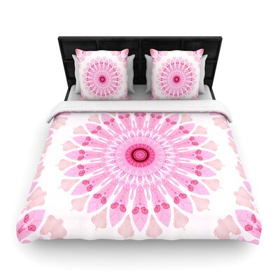 Iris Lehnhardt Flower Power Woven Duvet Cover Size: Twin