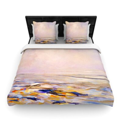 Iris Lehnhardt Hazy Sunrise Woven Duvet Cover Size: King
