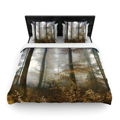 Iris Lehnhardt Forest Mystics Woven Duvet Cover Size: King