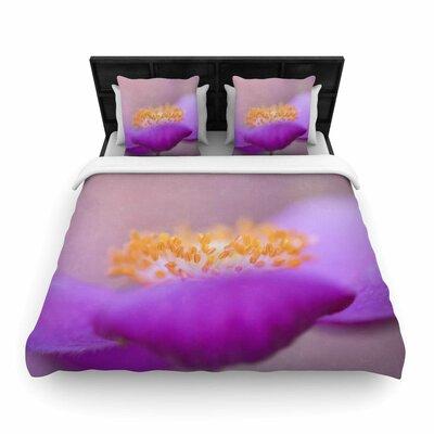 Iris Lehnhardt Grace Floral Woven Duvet Cover Size: Twin
