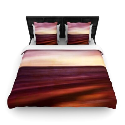 Iris Lehnhardt Seascape Sunset Woven Duvet Cover Size: Twin