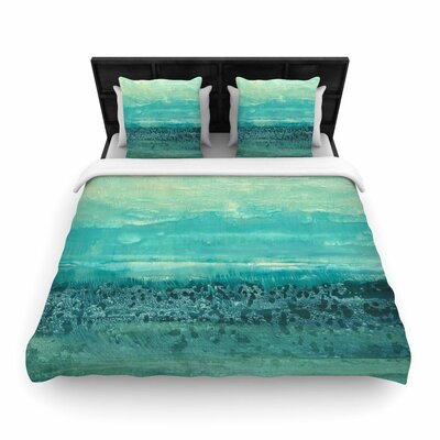 Iris Lehnhardt Oceanic Woven Duvet Cover Size: Twin