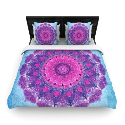 Iris Lehnhardt Grunge Mandala Woven Duvet Cover Size: King