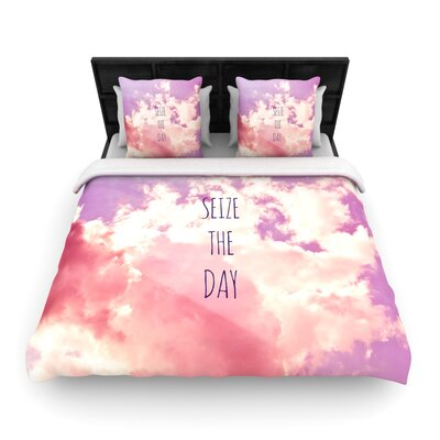 Iris Lehnhardt 'Seize the Day' Woven Duvet Cover Size: King