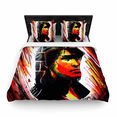 Ivan Joh Tsoi is Alive People Woven Duvet Cover Size: King