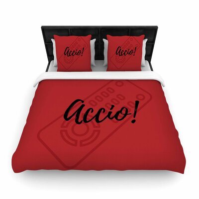 Jackie Rose Accio! Remote  Woven Duvet Cover Size: Full/Queen