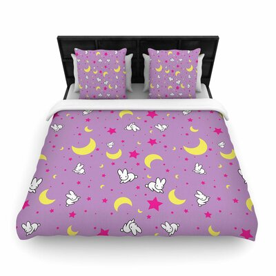 Jackie Rose Goodnight Usagi Woven Duvet Cover Size: King