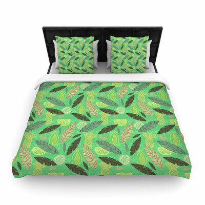 Jane Smith Tropical Fruits Woven Duvet Cover Size: Twin