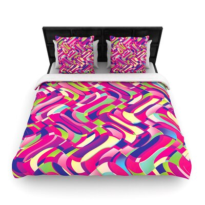 Dawid Roc Colorful Movement Woven Duvet Cover Size: King