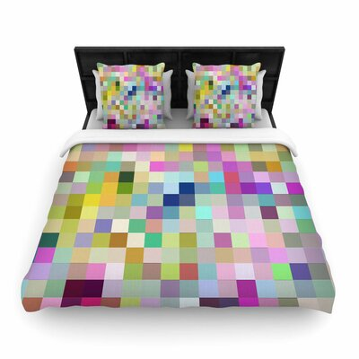 Dawid Roc Colorful Pixels Woven Duvet Cover Size: Twin
