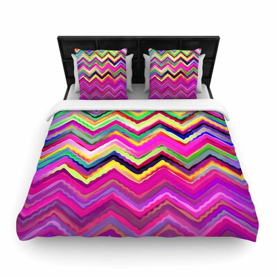 Dawid Roc Colorful Chevron Woven Duvet Cover Size: Full/Queen