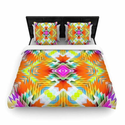 Dawid Roc Colorful Tribal Mosaic Tribal Woven Duvet Cover Size: Twin
