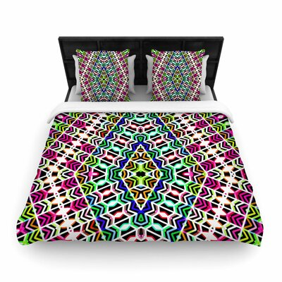 Dawid Roc Colorful Tribal Pattern Woven Duvet Cover Size: King