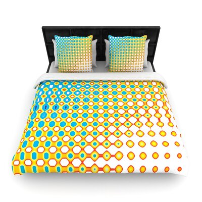Dawid Roc Psychedelic Art Woven Duvet Cover Size: Twin