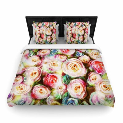 Dawid Roc Pastel Rose Romantic Gifts Photography Woven Duvet Cover Size: King
