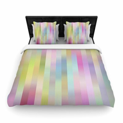 Dawid Roc Sweet Pastel Lines 1 Woven Duvet Cover Size: Twin