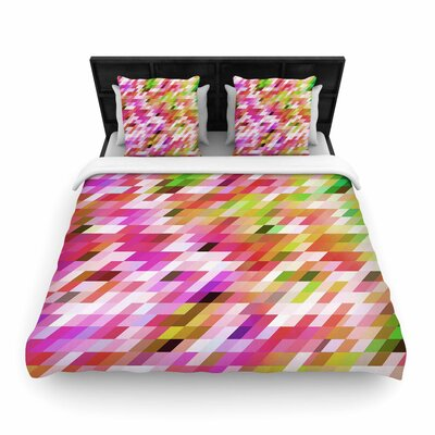 Dawid Roc Spring Summer Geometric Pastel Digital Woven Duvet Cover