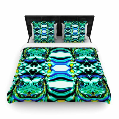 Dawid Roc Inspired By Psychedelic Art 5 Woven Duvet Cover Size: King