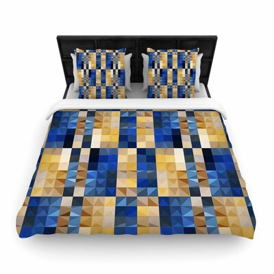 Dawid Roc New Stripes Mosaic Woven Duvet Cover Size: King