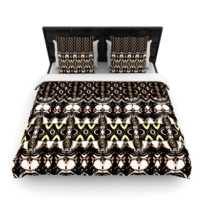 Dawid Roc The Palace Walls Woven Duvet Cover Size: King
