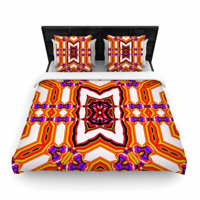 Dawid Roc Inspired By Psychedelic Art 4 Woven Duvet Cover Size: King
