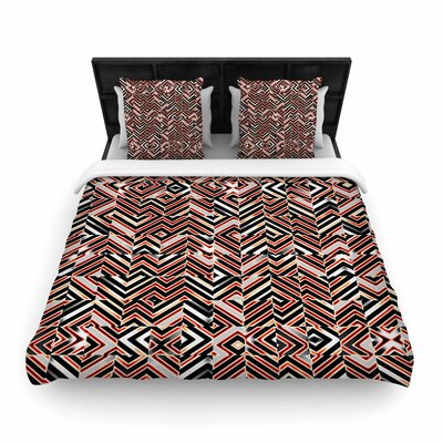 Dawis Roc Maze Geometric Abstract 1 Woven Duvet Cover Size: Twin