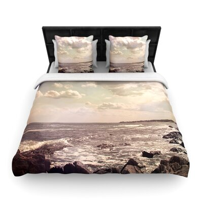 Debbra Obertanec Rocky Coast Sea View Woven Duvet Cover Size: Full/Queen
