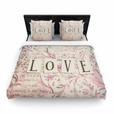 Debbra Obertanec Simply Love Woven Duvet Cover Size: King