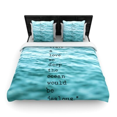 Debbra Obertanec Crave Love Woven Duvet Cover Size: Twin
