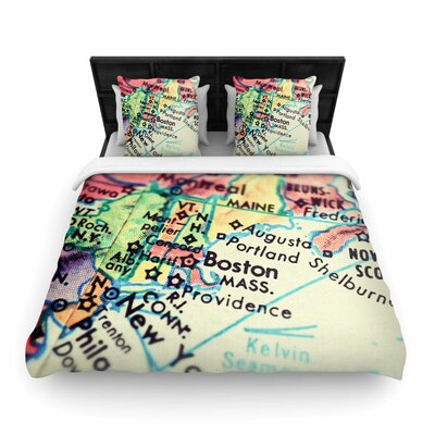 Debbra Obertanec Boston on the Time Woven Duvet Cover Size: Full/Queen