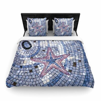 Debbra Obertanec Mosaic Starfish Woven Duvet Cover Size: King