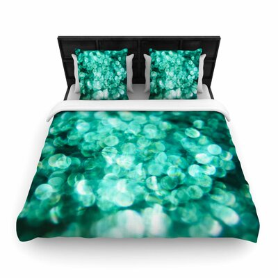 Debbra Obertanec Teal Mayhem Woven Duvet Cover Size: Twin