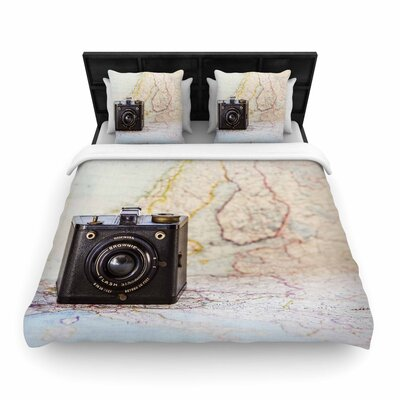 Debbra Obertanec Travel Time Woven Duvet Cover Size: Twin