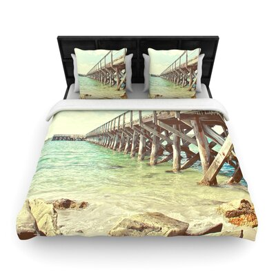 Debbra Obertanec On the Pier Woven Duvet Cover Size: Full/Queen