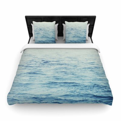 Debbra Obertanec Foggy Morning Ocean Woven Duvet Cover Size: Full/Queen