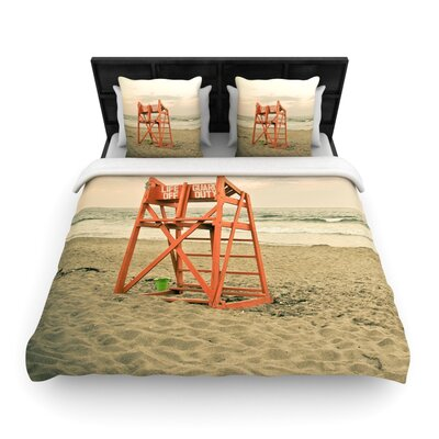 Debbra Obertanec Dusk at the Beach Woven Duvet Cover Size: Twin