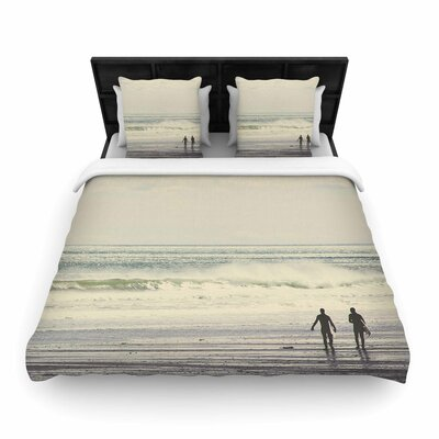 Debbra Obertanec Sun and Surf Woven Duvet Cover Size: King