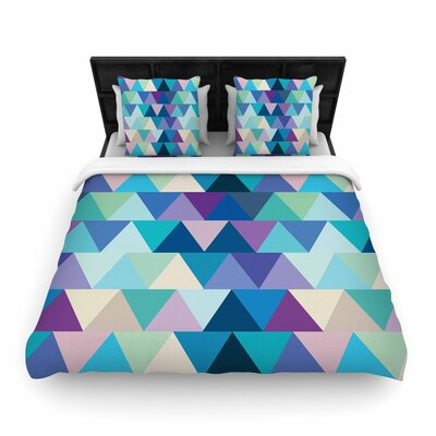 Draper Crystal Geometric Woven Duvet Cover Size: Twin