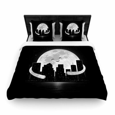 Digital Carbine 'Goodnight' Woven Duvet Cover Size: Twin