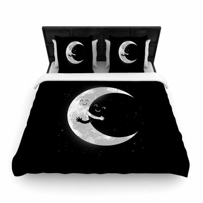 Digital Carbine Moon Hug Woven Duvet Cover Size: King