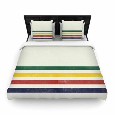 Draper Eagle Scout Stripes Woven Duvet Cover Size: Twin