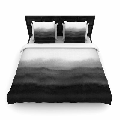 Draper Ombre Ink Wash Woven Duvet Cover Size: Twin