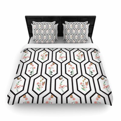 DLKG Eden Woven Duvet Cover Size: Full/Queen