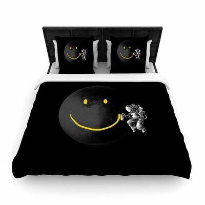 Digital Carbine Make a Smile Woven Duvet Cover Size: King