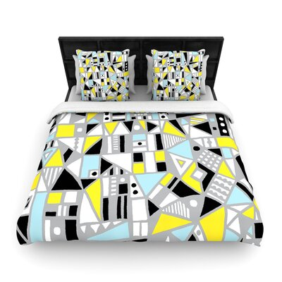 Emine Ortega Fun Geo Too Woven Duvet Cover Size: Twin