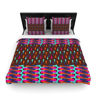 Famenxt Abstract Triangle Pattern Woven Duvet Cover Size: Full/Queen