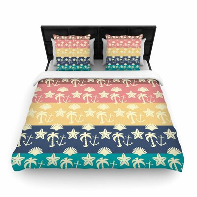 Famenxt Beach and Fun Woven Duvet Cover Size: King